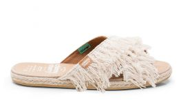 Cross Sandal Rustic Fur